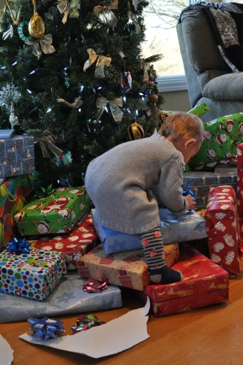 Climbing on presents