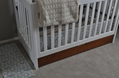crib skirt - one panel down