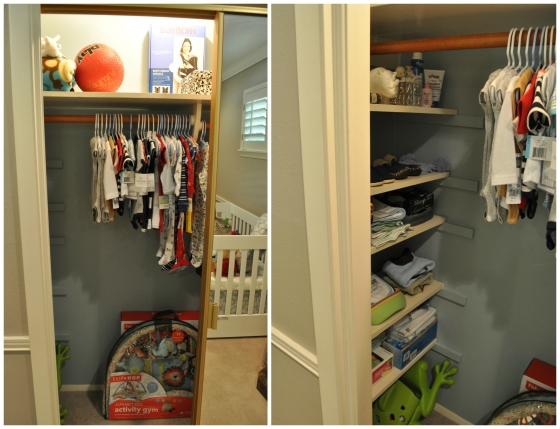 Nursery Closet Finished