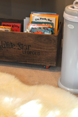 books & diaper pail