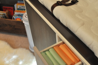 dresser & diapers