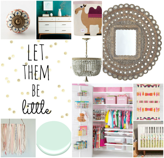 Baby Girl Nursery Mood Board