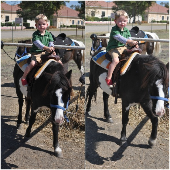 Jack riding pony