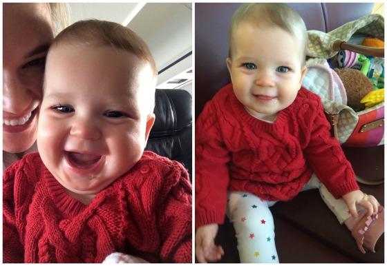 Mer's 1st plane ride